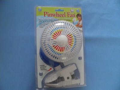Kel Gar Pinwheel Fan - Clip on Fan for Baby Pushchair Highchair Stroller Cool