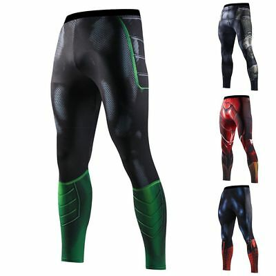 Compression Outdoor Men's Marvel Superhero Long Pants Gym Tights Sports Trousers