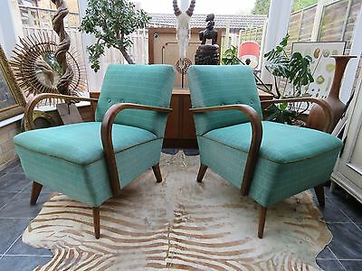 A Pair Of Art Deco Lounge Armchairs C1930/40 A17-33 Perfect For Re-Covering