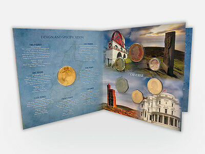 2017 Isle of Man Decimal Coin Collection Pack 5p,10p,20p,50p,£1,£2, £5 (AH34)