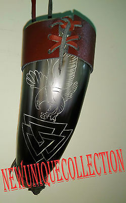 Real New Viking drinking horn with leather holder pagan mead beer wine stein mug
