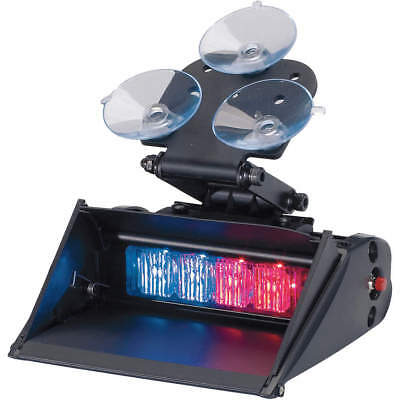 "CODE 3 Single Head Dash Light ,Blue, Red,5"" L, XT401RBSS"