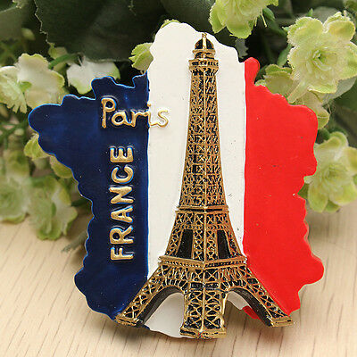 Tourist Souvenir Favorite Travel Resin 3D Fridge Magnet Eiffel