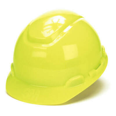 3M Hard Hat,4 pt. Ratchet,Bright Ylw, H-709R, Bright Yellow