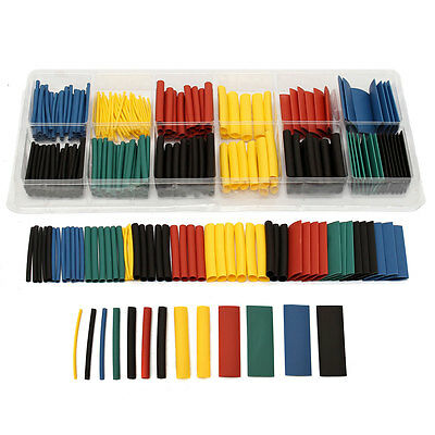 280Pcs Assortment Ratio 2:1 Heat Shrink Tubing Tube Sleeving