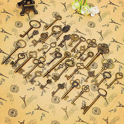 36Pcs Metal Retro Vintage Keys Of Assorted Styles Diy Accessories