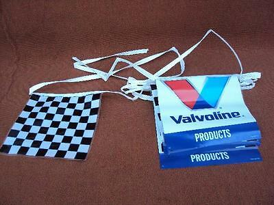 NOS Vintage Valvoline Racing Flag Banner New Never Used 13 foot long