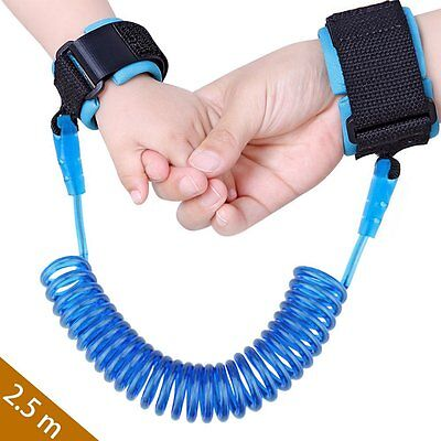 Baby Child Anti Lost Safety Wrist Link Harness Strap Rope Leash Walking Hand for
