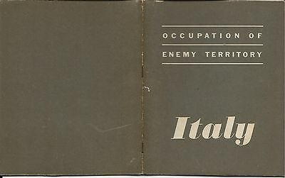 Old WWII Booklet 1943 Occupation of Enemy Territory Italy War & Navy Departments