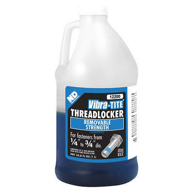 VIBRA-TITE Threadlocker,Blue,Bottle,1L, 12200