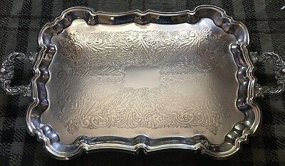 Beautiful Large 59cm Silver Plated Tray