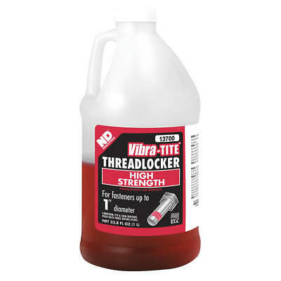 VIBRA-TITE Threadlocker,Red,1L,Viscosity 9500 cP, 13700