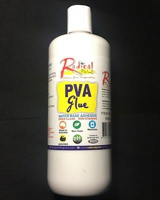 PVA Glue 500ml Dries Clear Making Slime Art Craft School Project Paper Wood