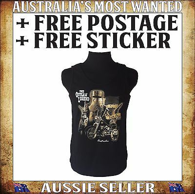 Ned Kelly Singlet The Outlaw Legend Sizes SML - 3XL FREE STICKER INCLUDED