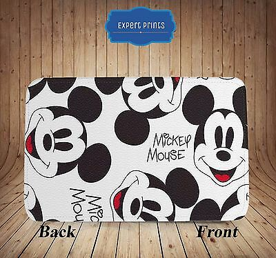 Mickey Mouse Minnie Disney Cute New Faux Leather Fabric Passport Holder P7