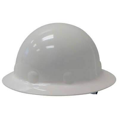 HONEYWELL FIBRE-METAL Hard Hat,8 pt. Ratchet,Wh, E1RW01A000, White