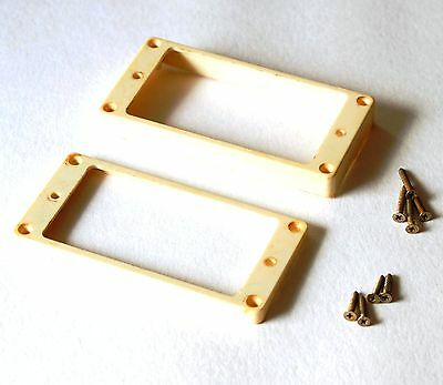 Aged Humbucker Vintage Mounting Ring Set BONE WHITE fits to Gibson Les Paul ®