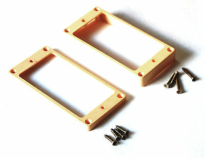 Aged Humbucker Vintage Mounting Rings CREAM fits to Gibson Les Paul ®