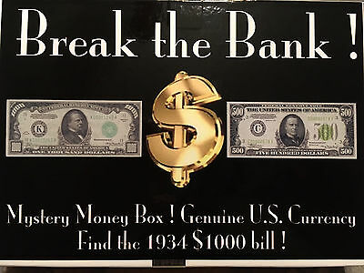 Break The Bank Box Silver Gold Certificate Notes Bill Federal 1 2 5 10 20 50 100