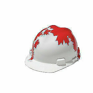MSA Hard Hat,C, E,Red/White,4 pt. Ratchet, 10050613, Red/White