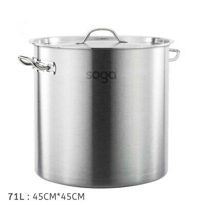 Brand New Stainless Steel 71L (45Cm) Stock Pot Chef Quality 12 Month Warranty