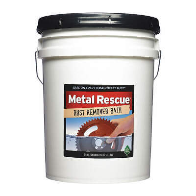 METAL RESCUE Rust Remover,Pail,5 gal., METALRESCUE5GAL, Clear