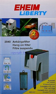 eheim liberty 75 FILTRE Attaché 2040020 doux et eau de mer aquariums 2040