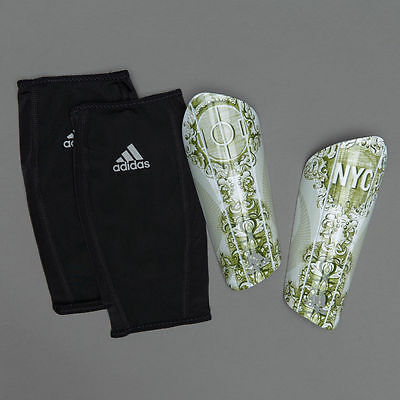Adidas Shinguards Football Performance NYC Ghost White/Oliver Soccer New AX6542