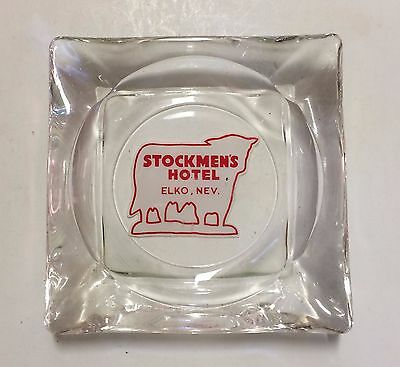 Casino AD ASHTRAY Stockmens Hotel Elko Nevada motel gaming Blackjack TOUGHER ONE