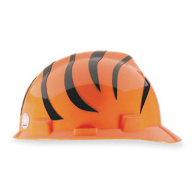 MSA NFL Hard Hat,C, E,Black/Orange, 818390, Black/Orange