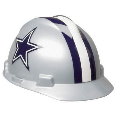 MSA NFL Hard Hat,C, E,Gray/Blue,1-Touch, 818392, Gray/Blue