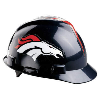 MSA NFL Hard Hat,C, E,Blue/Orange, 818393, Blue/Orange