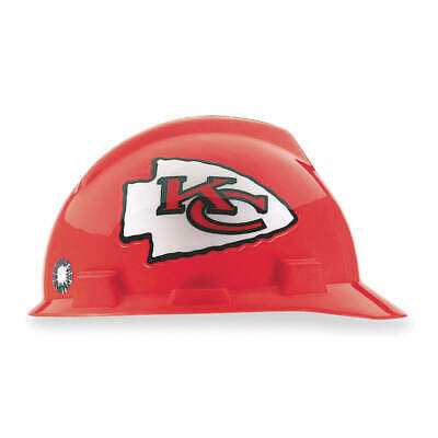 MSA NFL Hard Hat,C, E,Red/White,1-Touch, 818398, Red/White