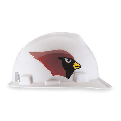 MSA NFL Hard Hat,C, E,Red/White,1-Touch, 818384, Red/White