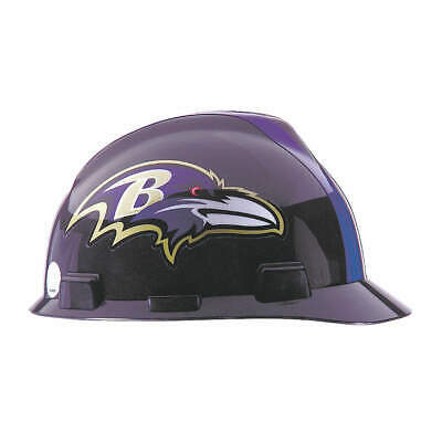 MSA NFL Hard Hat,C, E,Black/Purple, 818386, Black/Purple