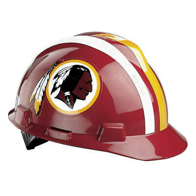 MSA NFL Hard Hat,C, E,Red/Gold,1-Touch, 818414, Red/Gold