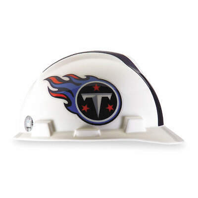 MSA NFL Hard Hat,C, E,White/Blue,1-Touch, 818413, White/Blue