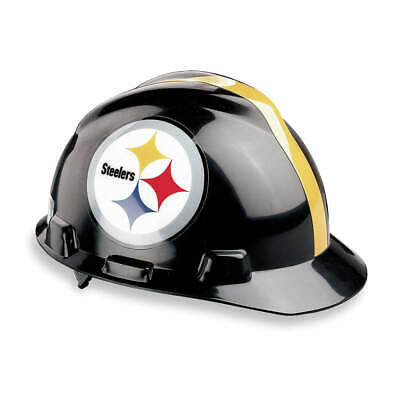MSA NFL Hard Hat,C, E,Black/Yellow, 818407, Black/Yellow