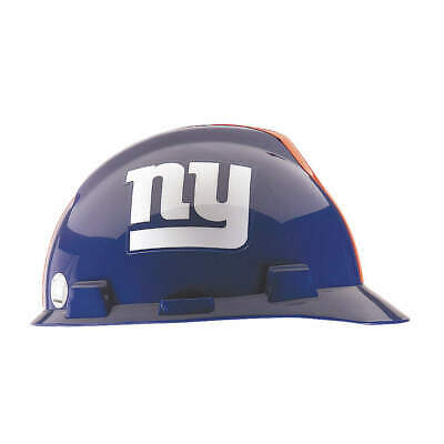 MSA NFL Hard Hat,C, E,Blue/White,1-Touch, 818403, Blue/White