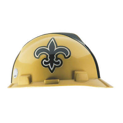 MSA NFL Hard Hat,C, E,Gold/Black,1-Touch, 818402, Gold/Black