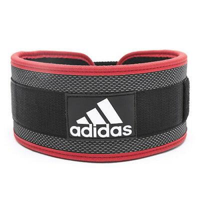 adidas Nylon Weightlifting Weights Belt Back Support Black