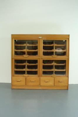 Vintage Haberdashery Cabinet Chest Shop Display Drawers #2064