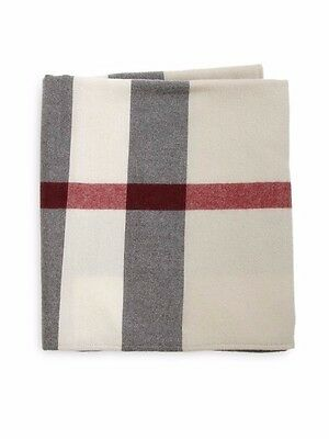 New Burberry Kid's Trench Check Wool Classic Check Blanket