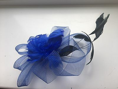 Fascinator with Clip - Royal Blue