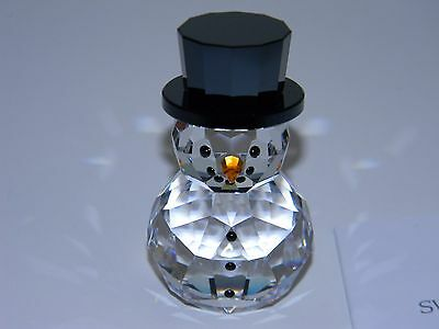 New Adorable Swarovski Snowman With Hat Figurine In Manufacturers Box 5135852