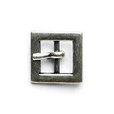 Square Buckle: 10mm: Silver