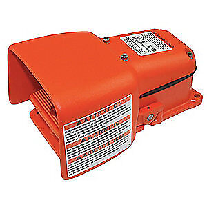 LINEMASTER Cast Iron Heavy Duty Foot Switch,Momentary Action, 531-SWH, Orange