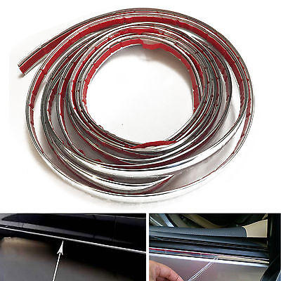 12mm Chrome Car Molding Vehicle Shiny Trim Truck Door Van Side Automotive RV
