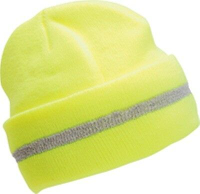 2 pack Yellow Safety Winter Beanie Knit Cap Lime HI Viz OSFA Rated Fast SHIP