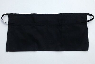 1 New Black Three Pocket Waist Apron 12 x 22 Super Nice! USA SELLER